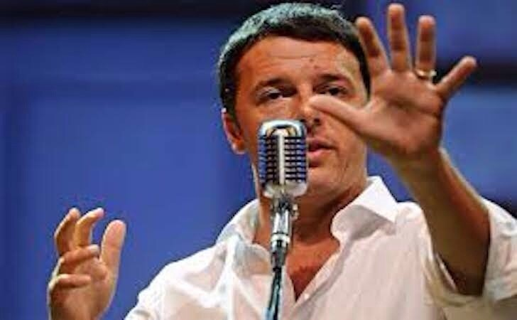 Renzi alla Leopolda fa lo sborone con la Merkel (cannando in pieno)