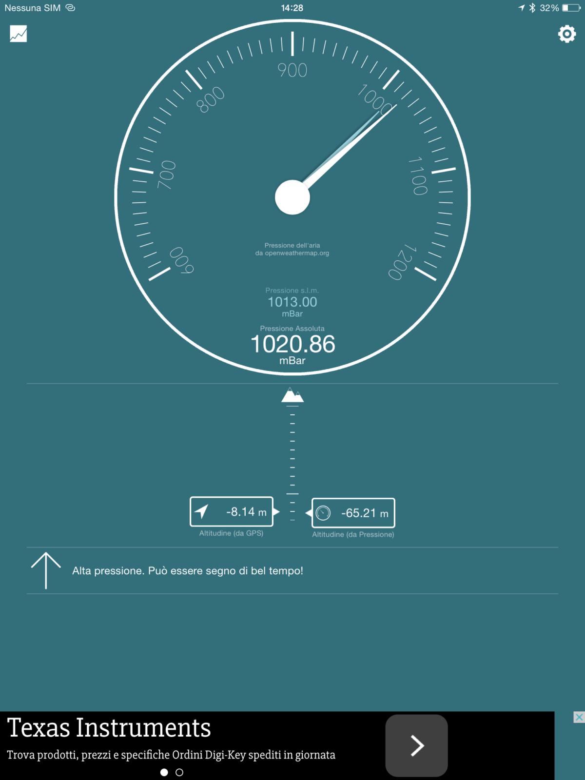 Bar-o-Meter un barometro in un app