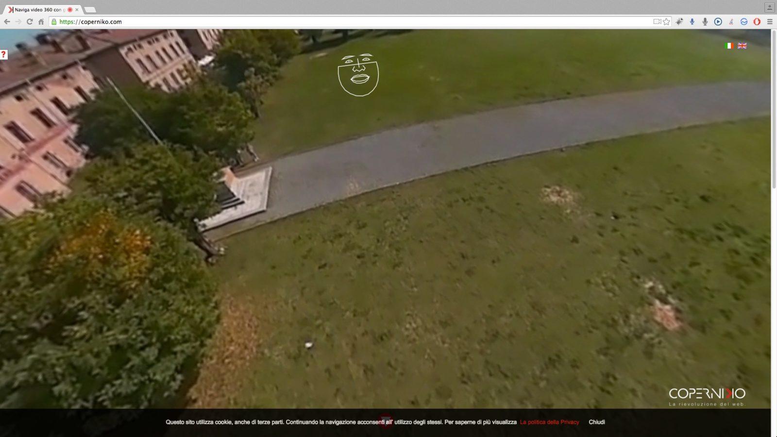 Muovetevi nel video a 360° spostando gli occhi ed il viso
