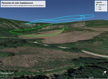 percorso Castelnuovo con drone 2
