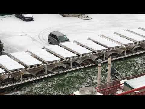 screenshot nevicata Genova 28 febbraio 2018