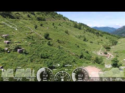 SCREENSHOT PARROT BEBOP 2 DRONE FPV FLYING WITH VR GLASSES